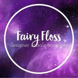fairy floss designer socials templates for simple to use social media posts simply add text