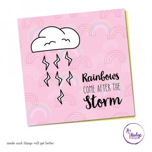 rainbows after the storm quirky greeting card