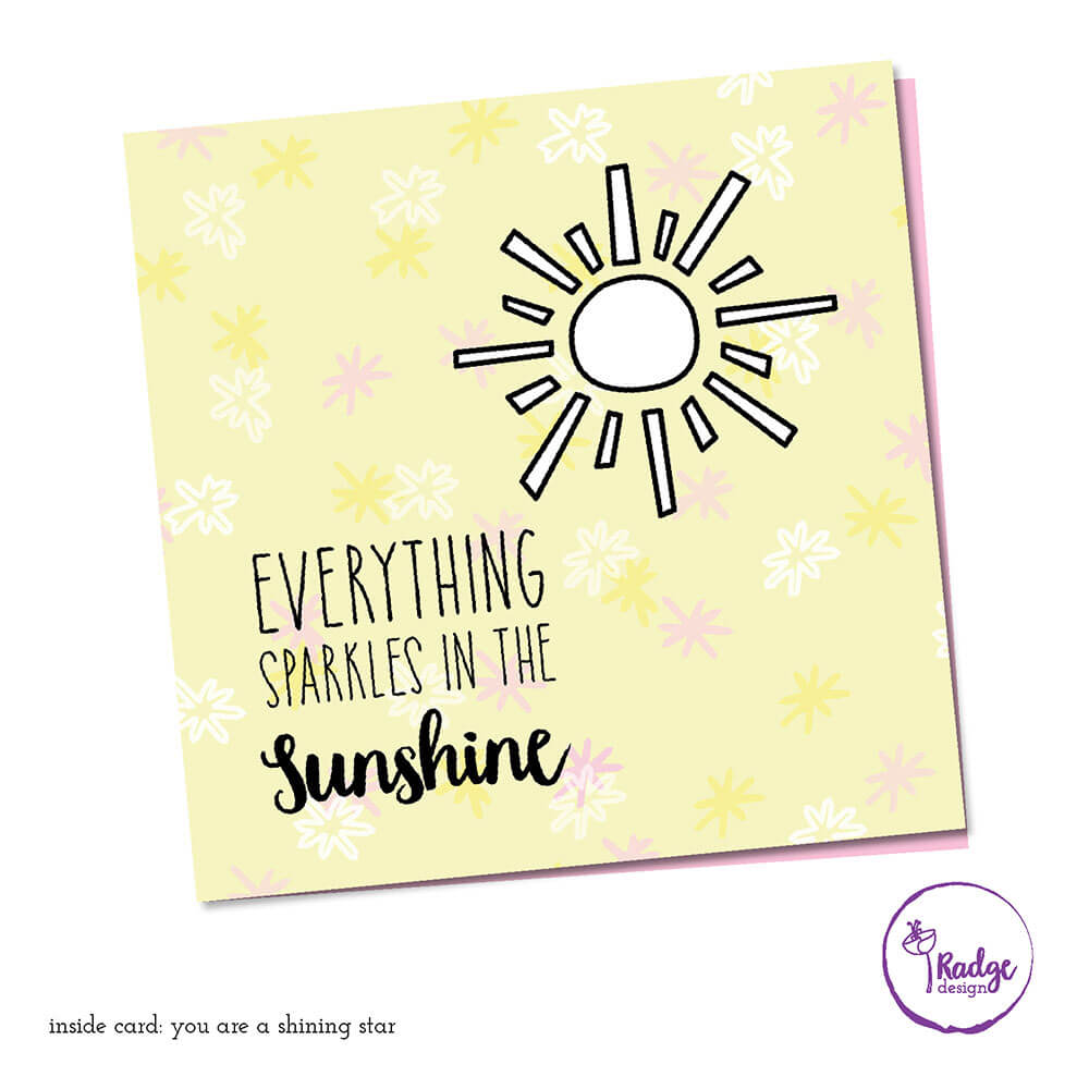 sunshine sparkles quirky greeting card