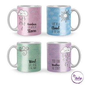 weather sentiments on a mug