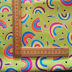 rainbows fabric print bold australian fabric