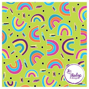 rainbow surface pattern design for fabric