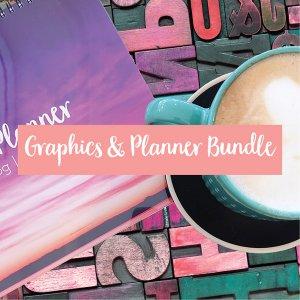 designer socials planner bundle graphics and planning in one