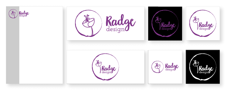 style guides explaining logo use to suit the space