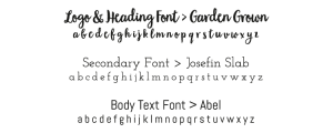 style guide font information for your branding