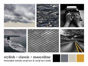 moodboard to suit stylish classic masculine business branding