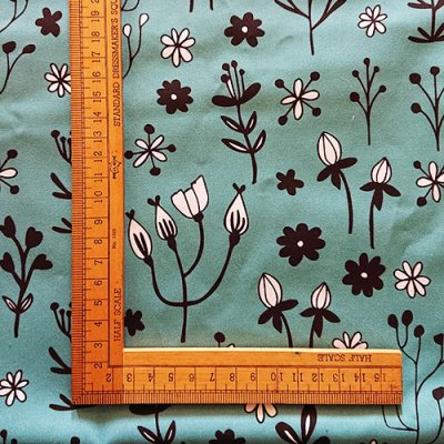 whimsical florals bold floral art deco inspired print
