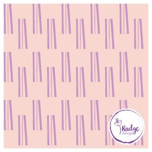 sticks bold quirky fabric peach