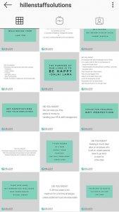 Karen Hillen consistency with brand colours alternating