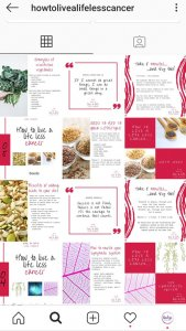 images and words for brand consistency how to live a life less cancer