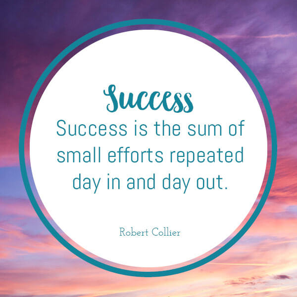 success keep going and trying and do it