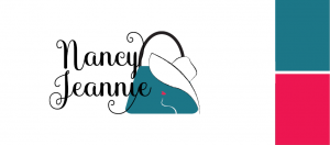 limited colours within logo and branding Nancy Jeannie
