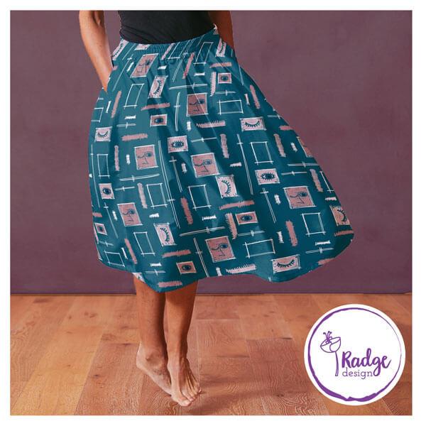 tropical papaya a tropical inspired fabric design