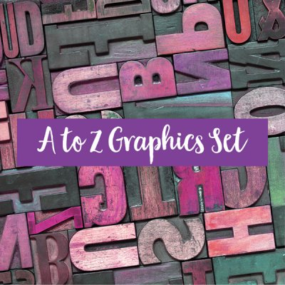 a to z graphics to educate your audience, ready to post social graphics