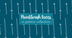 paintbrush faces a pattern collection