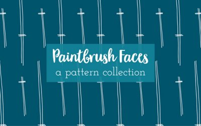 Paintbrush Faces | a pattern collection