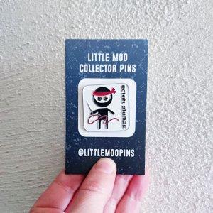sewing ninja enamel pin design