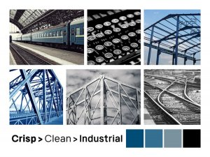 moodboard clean crisp industrial for engineering type business